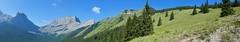 "Wind Ridge Scramble - Views to the west, looking towards ""Rimwall"" (benlarhome) Tags: kananaskis alberta canada canmore windridge hike hiking scramble scrambling trek trekking trail path rockies rockymountain"