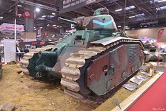 Renault char B1 bis (pontfire) Tags: renault char b1 bis 105cm leichte feldhaubitze 183 sf auf geschützwagen b2 panzerkampfwagen rétromobile 2018 tank panzer guerre war seconde mondial armée française french army worldwartwo worldwarii wwii retromobile