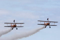 DSC_9488 copy (quintinsmith_ip) Tags: aerosuperbatics flyingcircus 'superstearmans stearmans plane formation flight smoke smoking orange white wingwalkers sunderland 2018