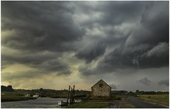 The Storm at Thornham Creek (TheAstroRV) Tags: thornham creek north norfolk clouds storm weather rain wind boats boathouse landscape photography