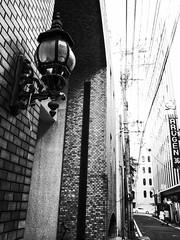 Street Fragments #406 - FUKUOKA Day and Night (Yoshi T. (kagirohi)) Tags: japan japanese fukuoka blackwhite bw street streetphotograph streetphotography alley fragment urban city cityscape snapshot ricoh gr ricohgr 日本 福岡 白黒 モノクローム モノクロ 路上 ストリート ストリートフォト 都市 風景 都市風景 スナップ スナップ写真 リコー 断片 blackandwhite monochrome depthoffield