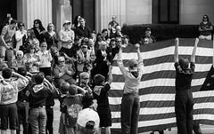 Respects - Bozeman, MT (j-rye) Tags: memorialholiday scouts flag goldstar parade sonyalpha sonya6000 sony a6000 ilce6000 mirrorless bozeman montana bw monochrome
