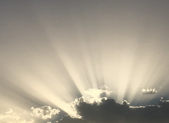 Heavens Above (Ronald Hackston) Tags: sun rays cloud sky skies crepuscularrays crepuscular ray heavens above heavenly