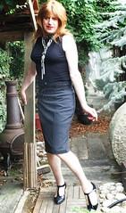 Rain Drops :-) (Amber :-)) Tags: grey pencil skirt tgirl transvestite crossdressing
