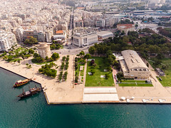White Tower of Thessaloniki and the Royal Theatre