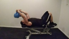 Pullover with Kettlebell (personaltrainertoronto) Tags: exercise workout fitness fit athlete athletic muscle bodybuilder bodybuilding personal trainer training video kettlebell back lats pullover