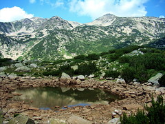 Pirin, Bulgaria (R_Ivanova) Tags: nature landscape mountain hill lake water rock sky cloud clouds coast plant summer peak colors color pirin bulgaria rivanova риванова пирин природа пейзаж лято планина езеро небе облаци вода outdoor mountainside