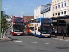 Stagecoach South West 15319 and 15326 (Welsh Bus 18) Tags: stagecoach southwest scania n250ud adl enviro400mmc 15319 yn67ykc 15326 yn67ykk torquay strand hop12 h4529f