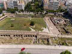 Roman forum and ancient Agora in Thessaloniki (marcoverch) Tags: afytos chalkidiki digitalnomad dji greek urlaub luftbildaufnahme kassandra travel luftaufnahme aerial aerialphotography mavicair griechenland thessaloniki decentralizedadministrationof decentralizedadministrationofmacedoniaandthrace gr romanforum ancientagora city stadt reise architecture diearchitektur road strase noperson keineperson building gebäude house haus street urban städtisch outdoors drausen home zuhause tree baum daylight tageslicht cityscape stadtbild town dorf traffic derverkehr sight sicht park antenne transportationsystem transportsystem deutschland paysage rainbow railroad brown flying leica golden shadows 7dwf