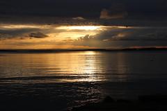 August night (Ib Aarmo) Tags: sea fjord oslofjord oslofjorden evening sunset sky clouds colors sun light nature outdoor
