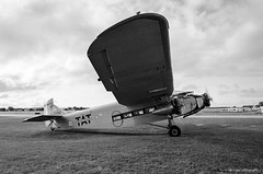 Ford Trimotor (dpsager) Tags: 2018 airventure bw dpsagerphotography eaa eaaoshkoshairshow eos1v fordtrimotor film kodak oshkosh portra400bw wisconsin aircraft airplane airshow osh18
