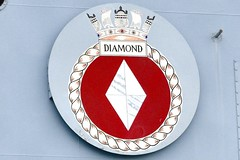HMS Diamond - Aberdeen Harbour Scotland - 11/8/18 (DanoAberdeen) Tags: coatofarms plaque logo badge diamond danoaberdeen winter wasser weather ecosse escocia escotia engineering riverdee river tug transport tugboat torry nikond750 navigation navy hmsdiamond d34 missile guidedmissile seafarers sailors britishnavy surfacefleet torpedo war radar surveilance airdefence gunship protectors heroes warfare harpoon 2018 candid amateur psv aberdeen scotland grampian ship boat vessel bluesky metal northsea northeast footdee fittie workboats sailor maritime pocraquay water offshore geotagged aberdeenscotland scottish seashore coastline oil oilships oilindustry danophotography