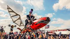 Red Monster (JuliSonne) Tags: meraluna festival 2018 hildesheim germany gothic devil woman dress black blackmusic costume wildeyes apocalyptic bizarre skurril attraction