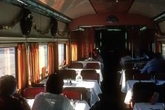 Inside D&RG diner Silver Banquet - Dec 1980 (G Morris) Tags: drg drgw riograndezephyr