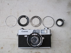 canonet ql19 SE (zaphad1) Tags: canonet ql19 se old type repair style disassembly removal lens shutter aperture ql 19 canon asa iso setting settings speed dial front glass element creative commons free photo