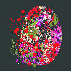 Cute easter egg (andreaeskin) Tags: spring easter celebration decoration vector illustration season happy holiday egg background colorful seasonal design gift symbol traditional tradition card decorative flower text bunny festive food vintage decor nature pattern beautiful event color rabbit springtime cute greeting kid group celebrate clipart digitallygeneratedimage eggs white