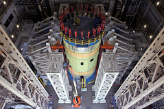 Space Launch System Intertank Readied for Structural Testing (NASA's Marshall Space Flight Center) Tags: nasa nasas marshall space flight center launch system sls moon mars test stand rocket michoud assembly facility maf pegasus barge apollo intertank saturn v