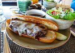 photo - Roast Beef Dip, House Without A Key (Jassy-50) Tags: housewithoutakey restaurant halekulanihotel halekulani hotel waikikibeach waikiki honolulu oahu hawaii lunch food sandwich roastbeefdip roastbeefsandwich beef salad