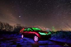 Night car (Peideluo) Tags: night car longexposure citroen cielo light lightpainting color colors nikon