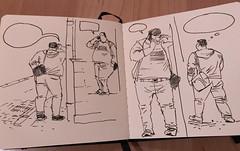 man on the Virmenska street (MAksym Kopylov) Tags: lviv kopylov sketch people fat street
