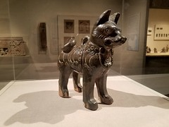 Figure of A Dog,China,Eastern Han Dynasty (AD 25-220),earthenware with dark green glaze 🐕 (marcos2077) Tags: metropolitanmuseumofart