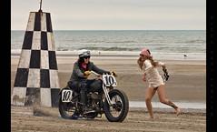 Girl Power (Whitney Lake) Tags: woman women vintage retro harleydavidson motorcycle dragrace beach shore ocean atlantic southjersey jerseyshore eastcoast 2018 newjersey wildwoods theraceofgentlemen trog