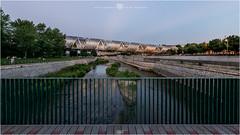 Puente monumental de Arganzuela 2 (pano360º) (Juan Ig. Llana) Tags: madrid ciudad parque río puente arganzuela perrault ríomanzanares arquitectura panorámica esférica 360 gigapan epicpro