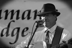 Truman's Ridge, Sycamore. 6 (EOS) (Mega-Magpie) Tags: canon eos 60d outdoors live bluegrass music trumans ridge musician people person guy dude man fella bw black white mono monochrome guitar sycamore il illinois usa america