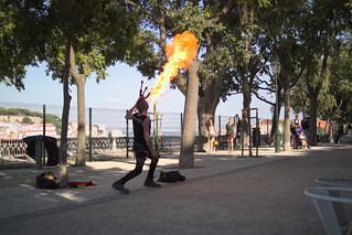 Firebreather at Miradouro
