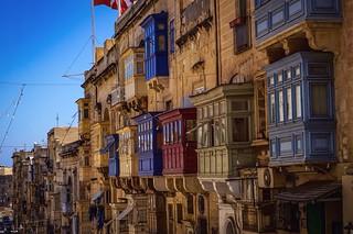 Maltese balconies... Valetta