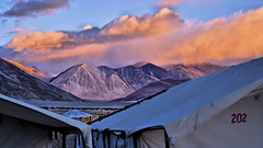 Pangong Tso at Sunrise (pallab seth) Tags: morning camping dawn pangongtso lake landscape panorama leh ladakh india travel tour nature himalayas mountain campsite photography sunrise colour indianlandscapephotography