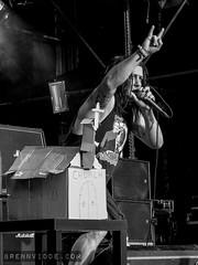 Municipal Waste (morten f) Tags: municipal waste thrash metal heavy oslo norge norway øya øyafestivalen 2009 middelalderparken singer vocals church kirke burning brenne konsert concert europe monochrome
