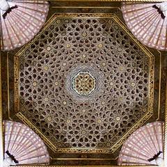 Hispano-Moorish ceiling - best viewed LARGE (fxdx) Tags: hispanomoorish ceiling villandry chateau nex6 1018
