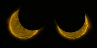 Partial solar eclipse from space