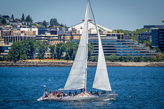 Neptune's Car sailing off Seattle (temaher) Tags: sony a7m3 a7iii sailing seattle pacificnorthwest washington boating pugetsound