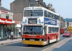 Stevensons, Uttoxeter: 81 (OUC34R) in Station Street, Burton on Trent (Mega Anorak) Tags: bus leyland fleetline fe30agr mcw dms stevensonsuttoxeter londontransport burtonontrent