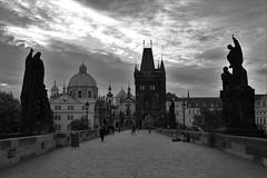 Karluv most, Praha (jmadrid93) Tags: landscape architecture art history clouds photographer blackandwhite europe charlesbridge karluvmosta moldava bridge tourism ceska ceskarepublika czechrepublic praha prague praga