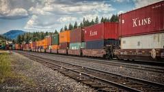 Container Cars (buffdawgus) Tags: california landscape railroadtracks traintracks truckee train canonef24105mmf4lisusm sierranevadarange topazstudio lightroom6 nevadacounty canon5dmarkiii railroad