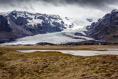 Retreating Glacier (Kirk Lougheed) Tags: austurland iceland icelandic kviamyrarkambur glacial glacier ice icecap landscape moraine mountain outdoor proglaciallake snow till