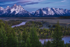 Snake River Overlook before the sun came up  - Blue Twilight (Wambo Jambo) Tags: bruceikenberryphotography d750 grandtetonnationalpark grandtetons landscape wyoming landscapephotography mountain mountains