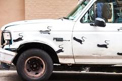 Blek Le Rat (Thomas Hawk) Tags: bayarea bleklerat california sanfrancisco tenderloin tenderloindistrict usa unitedstates unitedstatesofamerica auto automobile car graffiti rat truck fav10 fav25