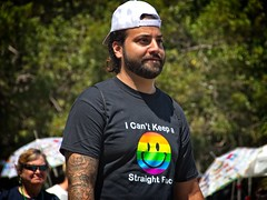 Bearded mant at Pride 2018   35 (LarryJay99 ) Tags: pridefest2018 2018 lakeworth florida festival flickrmen facial hair hairy tattoos tatts face cap tshirt rainbow man men guy guys dude male studly manly dudes handsome smile gay gayspring mustasch beard goatee