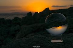 Tramonto in una lensball (Francesca Murroni ┃Wildlife Photographer) Tags: sunset sea rocks sun seascapes lensball evening sardinia italy tramonto mare rocce sole paesaggi riflessi suportudesutrigu santannaarresi sulcis sardegna italia