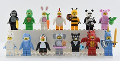 🐼🐷Every LEGO Animal Suit Minifigures🐲 (Alex THELEGOFAN) Tags: lego legography minifigure minifigures minifig minifigurine minifigs minifigurines animal suit gorilla guy lizard man bunny chicken bumblebee girl panda piggy unicorn shark penguin elephant cat costume dragon 2011 2012 2013 2014 2015 2016 2018