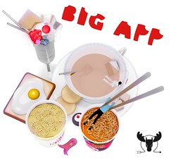 MUSU's BIG APP..etite? @ Gacha Garden! (MistahMoose) Tags: gacha secondlife ramen eggs sundae tea cupcake fun musu