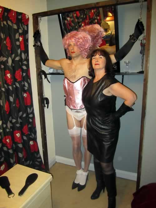 Granny leather femdom