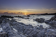 Summerleaze Sunset (jonsomersphotos) Tags: atlanticcoast bude coast coastline cornwall july2018 kernow landscape northcornwall rocks seascape seashore southwestcoastpath summerleazebeach sunset