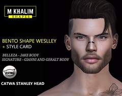 New Bento Shape for Catwa head, Belleza Jake and Signature body available (Matheus Khalim Photography) Tags: male mens shape shapes avi avatar second life sl secondlife blog mkshapes retrato