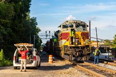 Mecaslin Street Swap (Kyle Yunker) Tags: ns norfolk southern dlw lackawanna heritage unit sd70ace emd train atlanta