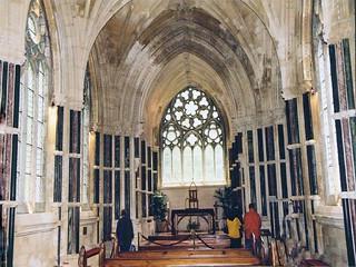 Irlande, l'intérieur de l'église de Kylemore